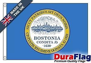 duraflag® Boston, MA bandera de calidad profesional (puerta y Cambiadas), 6ft x 3ft