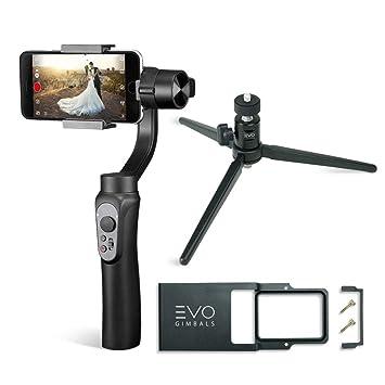 Evo Shift 3Axis Handheld Gimbal pour iPhone et Smartphones Android–Intelligent App Commandes pour Auto Panoramas, accéléré et Suivi + Construit en Charger Votre téléphone–Inclut 1an Garantie US