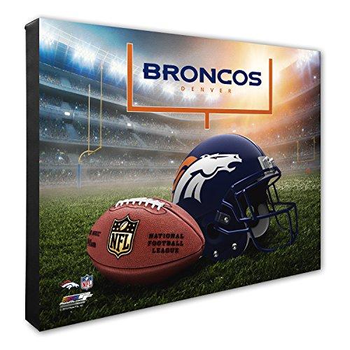 Photo File NFL Denver Broncos Helmet & Stadium High Resolution Canvas, 16