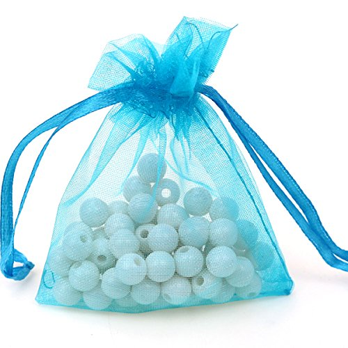"100pcs 3.6×4.8""(9x12cm) Organza Gift Bags, Drawstring Pouches Jewelry Party Wedding Favor Gift Bags,Candy Bags."