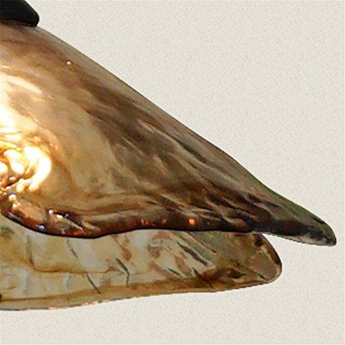 E27 Mediterranean 1 Head Amber Glass Chandelier Dining Room Ceiling Light Home Decor Creative Art Pendant Lamp,?H:38cm22cm