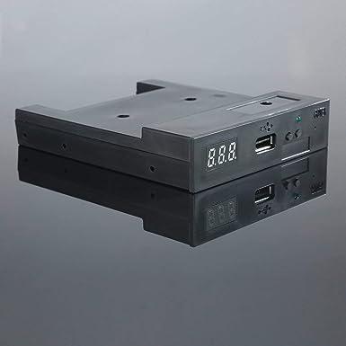 Negro SFR1M44-U100K 5V 3.5 1.44MB 1000 Unidad de disquete a emulador USB Simulación Conector simple para teclado musical: Amazon.es: Industria, ...