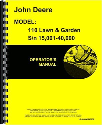 John Deere 110 Lawn & Garden Operators Manual (Sn 15,001-40,000)