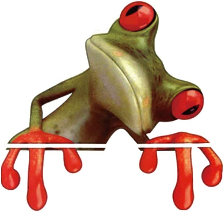 Adam Victor Removable Creative 3D Peep Frog Funny Car Stickers Truck Window Decal Graphics Sticker, 4 Sheets Wall Decals Kids Room Decorations Art Décor Stickers Nursery Birthday Gifts Sticker