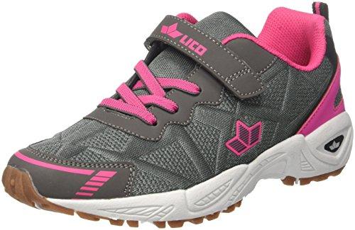 GEKA Flori Vs, Zapatillas de Deporte Interior para Mujer Gris (Anthrazit/Pink Anthrazit/Pink)