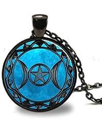 Triple Goddess pendant, Wiccan jewelry, Moon Goddess jewelry, Wiccan necklace, Goddess necklace Goddess jewelry keychain key fob …