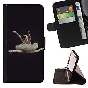 For Apple Iphone 6 Dance Ballet Dancer Black Woman Beautiful Print Wallet Leather Case Cover With Credit Card Slots And Stand Function