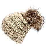 Knit-Ski-CapCanserin-Unisex-Faux-Fur-Ball-Slouchy-Knitting-Beanie-Hat-Hip-Hop-Cap-Winter-Ski-Hat