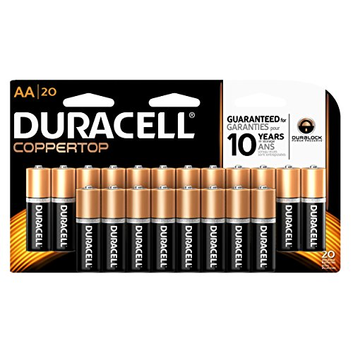 Price comparison product image Duracell CopperTop AA Alkaline Batteries, 20 Count