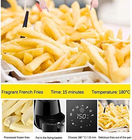 Ménage Air Fryer, avec écran numérique intelligent, Oilless sans fumée Friteuse électrique, antiadhésives, équipé Intelligence Touch, 1400W