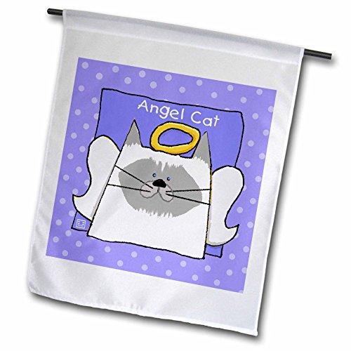 3dRose Angel Himalayan Cat Cartoon Pet Loss Memorial - Garden Flag, 12 by 18