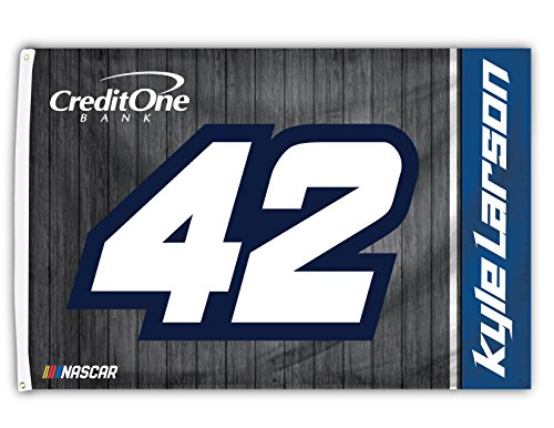 Kyle Larson #42 2018 NUMBER 3x5 Flag w/grommets Outdoor Hous