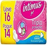 Intimus Absorvente Externo, Tripla Proteção Extra Suave com Abas, 16 unidades - Leve 16 Pague 14