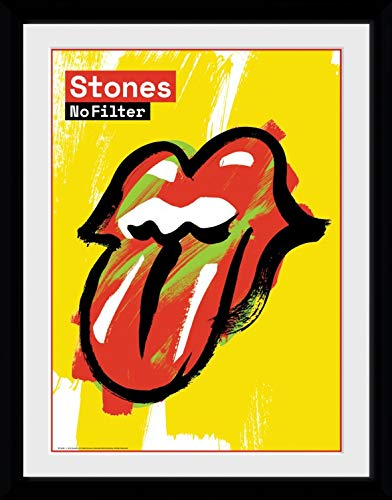 Rolling Stones Framed Collector Poster - No Filter (16 x 12 inches)
