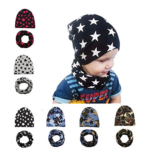 hot Fashion Baby Winter Warm Scarft Hat Set Printed Cmouflage Scarves Caps for Children hot sale