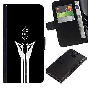 NEECELL GIFT forCITY // Billetera de cuero Caso Cubierta de protección Carcasa / Leather Wallet Case for HTC One M8 // Resumen minimalista Animal