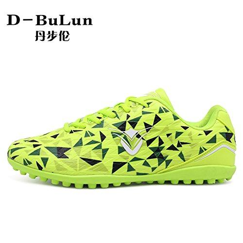 XING Lin Fußball Schuhe Broken Nail Soccer Shoes Herren und Frauen Kinder Kunstrasen atmungsaktives Leder Fuß grün
