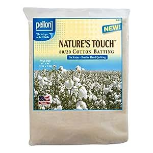 Pellon Nature's touch 80/20 Blend Cotton Batting, Full 81 x 96-Inch