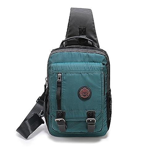 Nicgid Sling Bag Cross Body Messenger Bag One Strap Backpack Travel Shoulder Bag For Laptop Tablet Ipad Outdoor Hiking (Dark green)