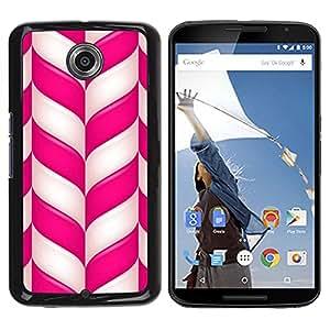 YiPhone /// Prima de resorte delgada de la cubierta del caso de Shell Armor - Candy Cane Christmas Holidays Winter Mint - Motorola NEXUS 6 / X / Moto X Pro