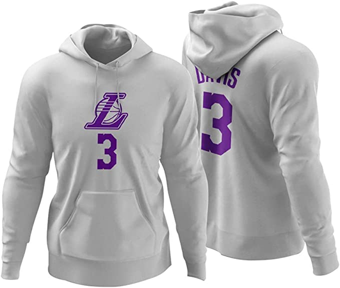 CCKWX Baloncesto con Capucha Lakers # 3 Ventiladores Anthony Davis ...