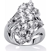 Hot 925 Silver White Topaz Ring Women/Mens Wedding Party Gifts Jewelry Sz 6-10 (9)