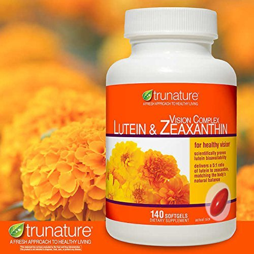 TruNature Vision Complex with Lutein & Zeaxanthin -Mega Value 4 Pack (560 Softgels Total ) by TruNature (Image #3)