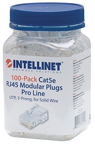 ICI790512 - INTELLINET 790512 CAT-5E 3-Prong Modular Plugs, 100 pk ()
