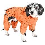 DOGHELIOS 'Thunder-Crackle' Full-Body Bodied Waded-Plush Adjustable and 3M Reflective Pet Dog Jacket Coat w/Blackshark Technology, Medium, Sporty Orange