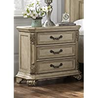 Liberty Furniture Messina Estates II Bedroom 3-Drawer Night Stand, Antique Ivory Finish