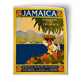 AK Wall Art Jamaica Vintage Travel Design - Magnet - Flexible Waterproof - Fridge Locker - Select Size