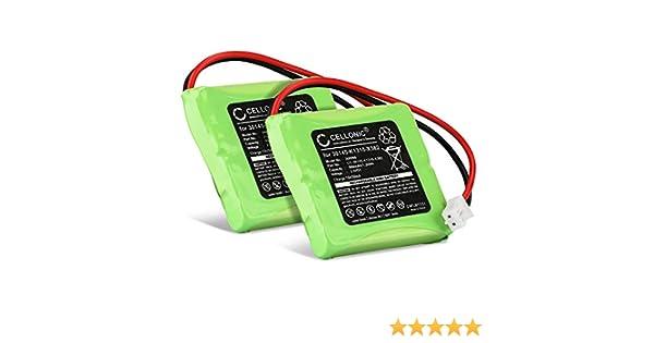 CELLONIC 2X Batería Compatible con Siemens Gigaset E45, E450 SIM, E455 SIM, Compatible con Swisscom Aton CL-102, Top S329 (500mAh) S30852-D1751-X1 bateria de Repuesto, Pila reemplazo, sustitución: Amazon.es: Electrónica