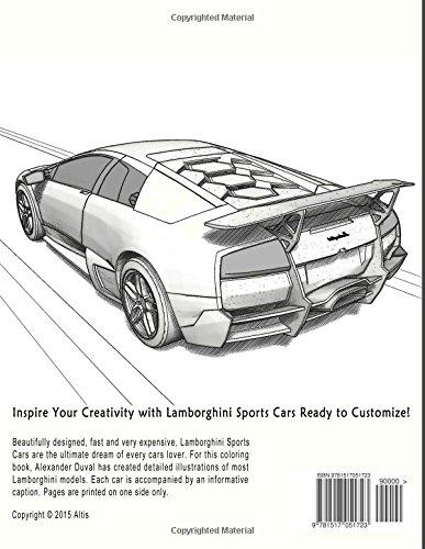 Sports Cars Coloring Book Lamborghini Amazoncouk Alexander