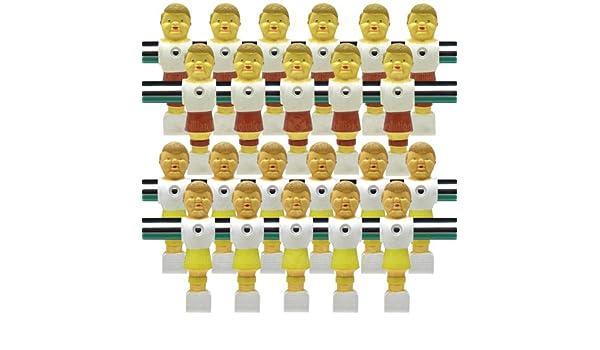 Vintage estilo antiguo amarillo y marrón futbolín Hombres Juego De ...