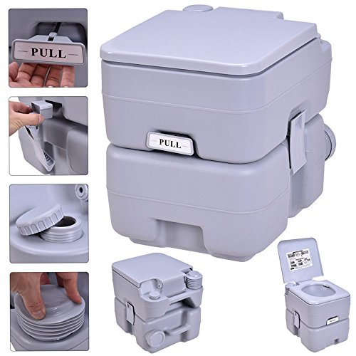 5 Gallon 20L Portable Toilet Flush Travel Camping Outdoor/Indoor Potty Commode TKT-11 by TKT-11 (Image #1)