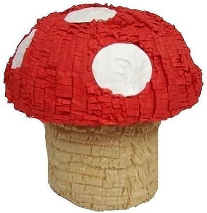 """Amazon.com: Piñata, diseño de seta, 16"""" Rojo Super ..."""