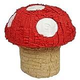 "Pinatas Mushroom, 16"" Red Super Mushroom for Mario Bros Themed Birthday Party"