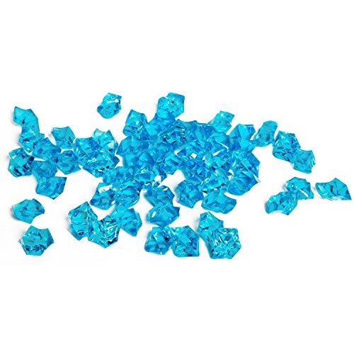 Aqua Colored Stone (Acrylic Gems Ice Crystal Rocks for Vase Fillers, Party Table Scatter, Wedding, Photography, Party Decoration, Crafts by Royal Imports, 1 LB (approx 180-200 gems) - Aqua)