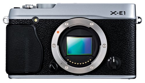Fujifilm X-E1 16.3 MP Compact System Digital Camera with 2.8-Inch LCD - Body Only (Silver)