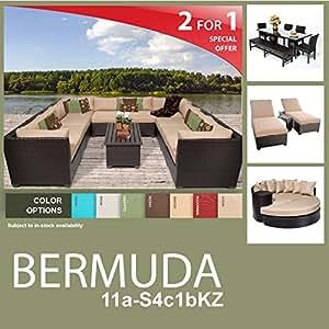 Bermuda 22 Piece Outdoor Wicker Patio Furniture Package BERMUDA-11a-S4c1bKZ