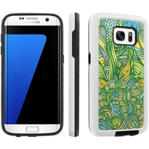 [Galaxy S7] [5.1 Screen] Armor Case [Skinguardz] [White/Black] Shock Absorbent Hybrid - [Floral] for Samsung Sales