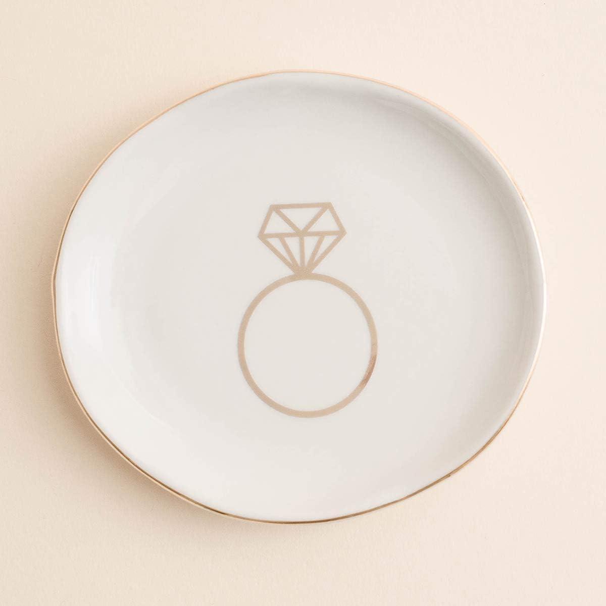 Oval Concrete Trinket Tray BirthdayWeddingAnniversaryBridesmaid Gift Jewellery Tray Home Decor Coaster Ring Dish
