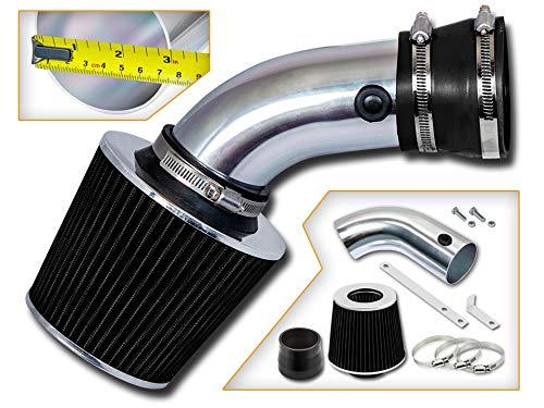 740il Rtunes Racing Short Ram Air Intake Kit E34 E39 540i 4.0L//4.4L V8 Filter Combo BLACK Compatible For 93-01 BMW E32 E38 740i