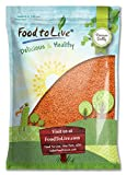 Red Split Lentils by Food to Live (Dry Beans, Raw, Kosher, Bulk) — 15 Pounds