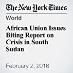 African Union Issues Biting Report on Crisis in South Sudan | Jeffrey Gettleman