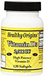 Healthy Origins Vitamin D3 Softgels, 120 Count Review