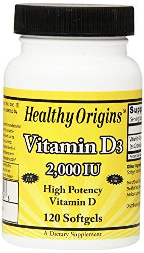 Healthy Origins Vitamin D3 Softgels, 120 Count