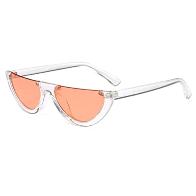 af2d8b6c915d Zhuhaixmy Goggles Half Frame Half moon Women Cat Eye Sunglasses Fashion  Eyewear  Amazon.co.uk  Clothing