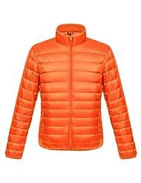 Gihuo Men's Packable Ultra Light Stand Collar Full Zip Down Jacket Puffer Coat