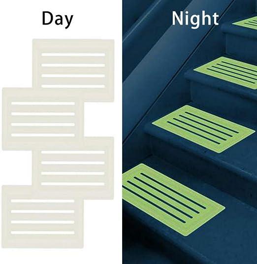 Homemust 4pcs Escalera Antideslizante Adhesivo Estera Luminosa de PVC e instalación Gratuita para Proteger Las escaleras: Amazon.es: Hogar